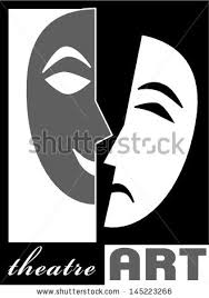 theatre poster template simple classic style stock illustration