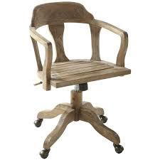 chaise de bureau en bois à chaise de bureau en bois a chaise bureau bois roulettes