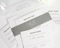 classic wedding invitations simple traditional classic wedding invitations in gray wedding