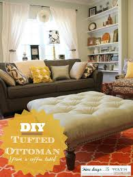 Diy Ottoman Coffee Table Diy Tufted Ottoman M Is For