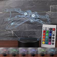 t駘騅ision pour chambre x wing fighter 3d vision led veilleuses wars le de table usb