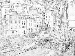 tn riomaggiore cinqueterre coloring pages printable u0026 free