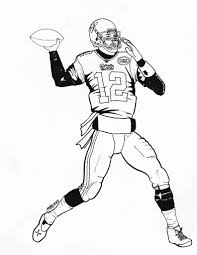 tom brady coloring pages free printable coloring 9950