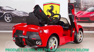 ferrari electric car bigtoysdirect 12v ferrari laferrari kids electric ride on car red