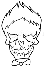 Draw Suicide Squad Joker Skull Step By Step Dc Comics Comics Coloring Pages Joker