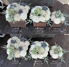 Flower Arrangements Home Decor by Large Artificial Succulent Arrangement Centerpiece Midcentury