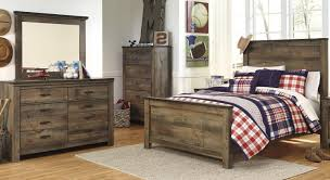 Full Bedroom Signature Design By Ashley Trinell Rustic Look Youth Dresser With