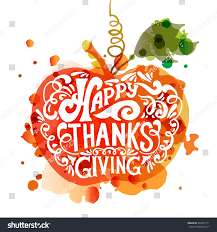 watercolor design happy thanksgiving day stock vector