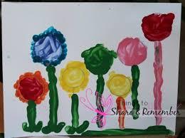 paint flower garden template