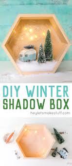 easy retro winter shadow box hey let s make stuff