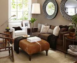 color schemes for living room with brown couch
