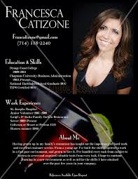Example Bartender Resume by Kimberlydaniels Photo Keywords Fransesca