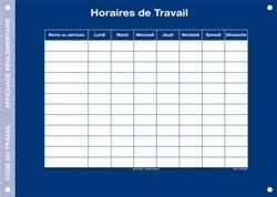 horaires de bureau panneau droit du travail horaire amazon fr fournitures de bureau
