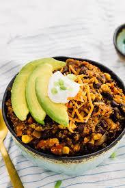vegan crockpot chili black bean u0026 quinoa 10 min prep jessica