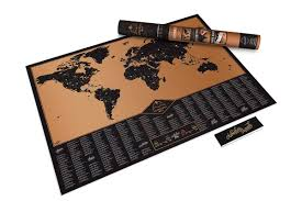 expeditionary creative scratch world map scatcher map cylinder