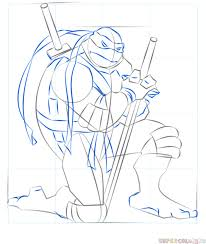 how to draw leonardo from ninja turtles step by step drawing