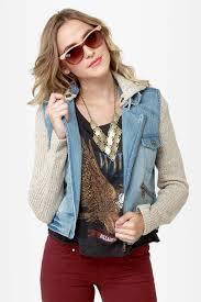 jean sweater jacket billabong rev up jacket denim jacket motorcycle jacket 89 50