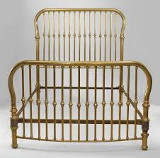 antique victorian brass bed full size iron frame rails cast iron