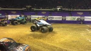 monster truck jam youtube megalodon rollover at 2017 hampton monster jam youtube