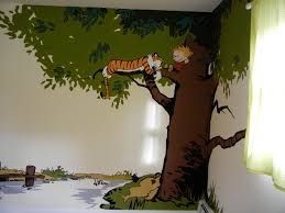 calvin and hobbes nursery decorations pictures to pin on pinterest calvin and hobbes mural