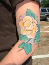 yellow flower tattoo tattooimages biz