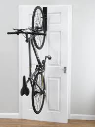 gear up off the door single bike vertical rack doors storage