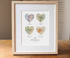 wedding gift photo frame heart map wedding gift engagement gift anniversary