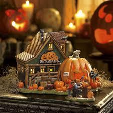 retired halloween village by department 56