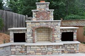 sturdy outdoor fireplace plans including outdoor entertainment