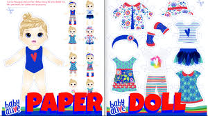 baby alive paper doll craft diy paper doll clothes baby alive