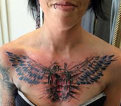wings designs on chest fashion