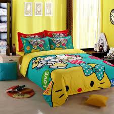 Hello Kitty Bedroom Set Twin Online Get Cheap Red Twin Comforter Set Aliexpress Com Alibaba