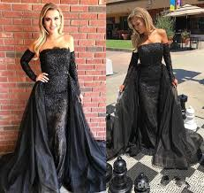 dresses for 11 year olds graduation 2018 arabic style black lace prom dress cheap mermaid formal