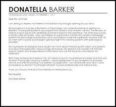 assistant psychologist cover letter sample livecareer