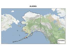 us map of alaska u s tornadoes that occur outside the u s the continental