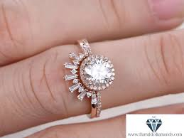 7mm diamond 7mm cut moissanite engagement ring set diamond halo sunburst