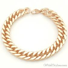 mens rose gold bracelet images Mens curb chain bracelet no323454br wrist styles jpg