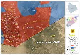 Syria Map by Situation In Southwest Syria Map Update