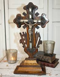 carved wooden crosses century napoleon iii carved wood cross crucifix