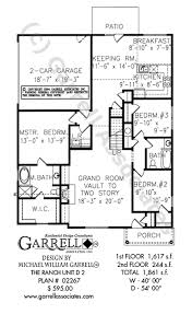 2 house plan ranch unit d 2 house plan house plans by garrell associates inc