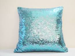 shiny turquoise blue pillow cover holiday decor discovered