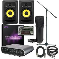 krk home theater pro tools express mbox 3 u0026 krk 6 recording bundle pssl