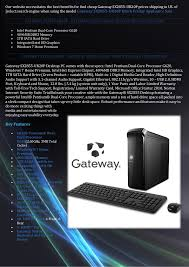 best black friday windows 7 computer deals best buy gateway sx2855 ur20 p black friday desktop computer deals