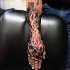 50 flaming skull tattoos for blazing bone design ideas