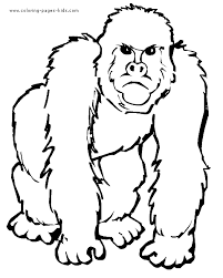 monkey color animal coloring pages color plate coloring