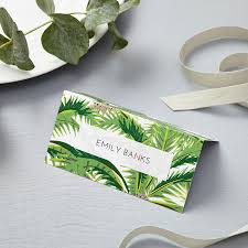 tropical place cards says i do