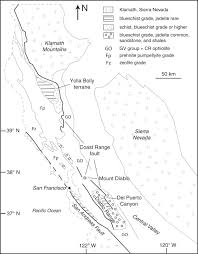 Mt Diablo State Park Map by Kinematics Of Franciscan Complex Exhumation New Insights From The