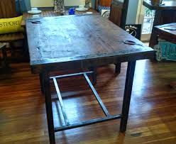 hatch cover table craigslist steel based high boy kitchen dinette table liberty ship hatch
