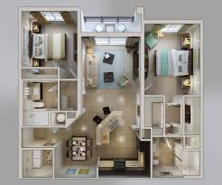 appartement avec 2 chambres 50 plans 3d d appartement avec 2 chambres 3d plans et appartements