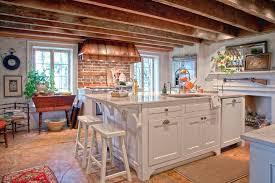 Rustic Kitchen Hoods - copper range hood enhances this rustic kitchen 4 types of